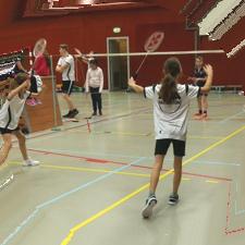slider badminton rond