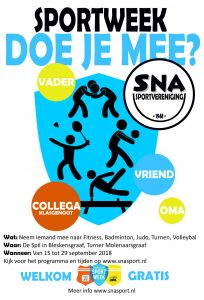 Flyer nationale sportweek SNA alle sporten 2018