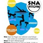 flyer nationale sportweek fitgym blauw