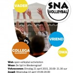 flyer nationale sportweek volleybal