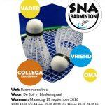flyer nationale sportweek badminton A6