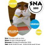 flyer nationale sportweek judo A6