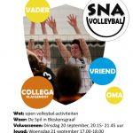flyer nationale sportweek volleybal A6
